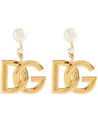 Dolce & Gabbana Pendientes DG con adornos - Metálico