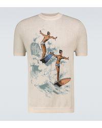 CASABLANCA Camiseta Les Garcons de punto - Neutro