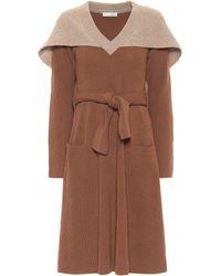 JW Anderson Caped Wool Midi Dress - Brown