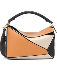 5f4ffe1fa30b Loewe Gate Mini Textured-leather Shoulder Bag in Brown - Save 6% - Lyst