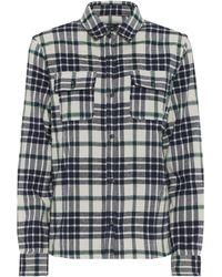 A.P.C. Sur Checked Cotton-blend Shirt - Natural