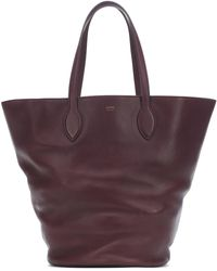 Khaite Osa Medium Leather Tote - Red