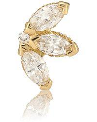Maria Tash Einzelner Ohrring Lotus aus 18kt Gold und Diamanten - Mettallic