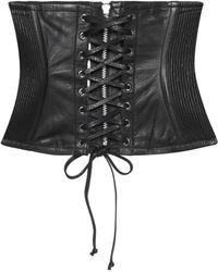 McQ Leather Corset - Black