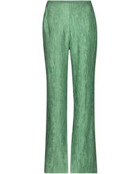 Nanushka Tabbie Plissé Wide-leg Pants - Green