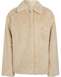 Vince Faux Fur Jacket - Natural