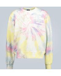 Amiri Batik-Sweatshirt aus Baumwolle - Mehrfarbig