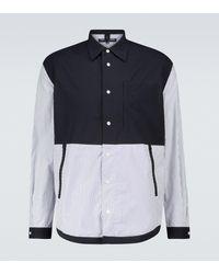 Comme des Garçons Patchwork-Hemd aus Baumwolle - Blau
