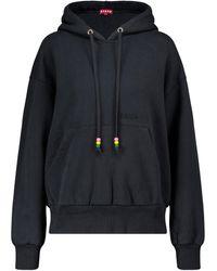 STAUD Sudadera con capucha de algodón - Negro