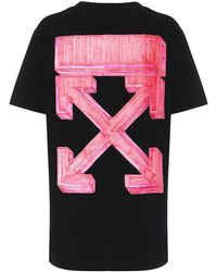 Off-White c/o Virgil Abloh T-shirt Marker Arrows in cotone con stampa - Nero