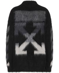 Off-White c/o Virgil Abloh Mohair And Wool Blend Jumper - Black