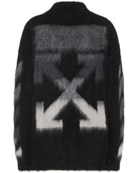 Off-White c/o Virgil Abloh Mohair And Wool Blend Sweater - Black