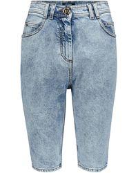 Balmain - High-Rise Jeansshorts - Lyst