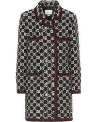 Gucci GG Tweed Coat - Black
