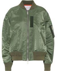 Sacai Nylon Bomber Jacket - Green
