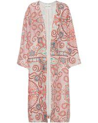 Etro Manteau imprimé en crêpe de soie - Multicolore