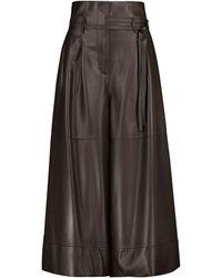 Loewe Culottes de piel - Marrón