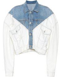 Unravel Project Chaqueta de jeans cropped - Multicolor