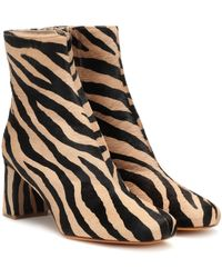 Maryam Nassir Zadeh Exclusive To Mytheresa – Agnes Calf Hair Ankle Boots - Natural