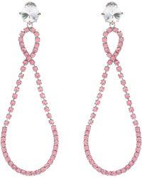 Miu Miu | Crystal-embellished Clip-on Earrings | Lyst