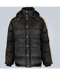 Gucci GG Jacquard Nylon Padded Coat - Black