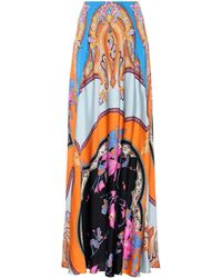 Etro - Floral-printed Maxi Skirt - Lyst