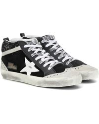 Golden Goose Deluxe Brand Exclusive To Mytheresa – Mid Star High-top Trainers - Black
