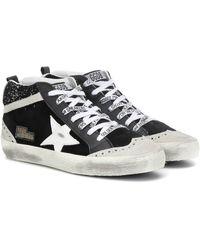 Golden Goose Deluxe Brand Exklusiv bei Mytheresa – High-Top-Sneakers Midstar aus Leder - Schwarz