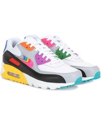 Air Max 90 Se Stretch knit, Suede, Leather And Mesh Sneakers