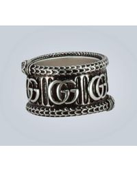 Gucci Doppel G Ring aus Silber - Mettallic