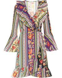Etro - Bedrucktes Kleid aus Baumwolle - Lyst