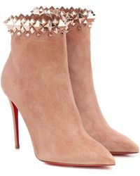 Christian Louboutin Firmamma 100 Suede Ankle Boots - Multicolor