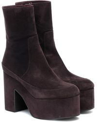 Dries Van Noten Suede Ankle Boots - Multicolor
