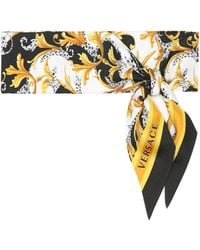 Versace Printed Silk-twill Scarf - Metallic
