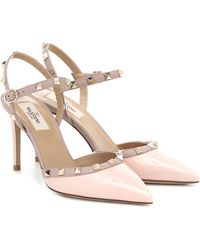 Valentino Garavani - Pink Garavani Rockstud Patent Heel - Lyst