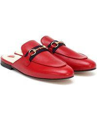 Gucci Princetown Slides - Rot