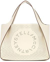 Stella McCartney Tote Stella Logo de piel sintética - Blanco