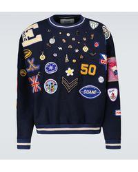 Bode Merino Wool Charm Sweatshirt - Blue