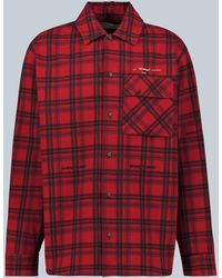 Off-White c/o Virgil Abloh Flannel Checked Shirt - Red