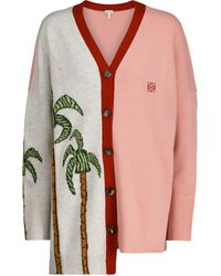 Loewe X Ken Price Jacquard Wool Cardigan - Multicolor