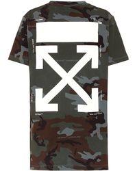 Off-White c/o Virgil Abloh Bedrucktes T-Shirt aus Baumwolle - Schwarz