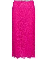 Valentino Midirock aus Spitze - Pink