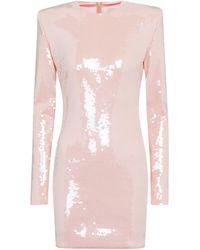 Alexandre Vauthier Sequined Minidress - Pink