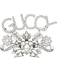 Gucci - Guccy Embellished Brooch - Lyst