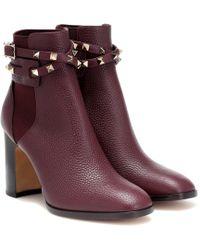 Valentino Garavani Rockstud Boots Rubin - Red