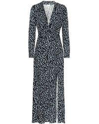 RIXO London Anja Silk-blend Midi Dress - Blue