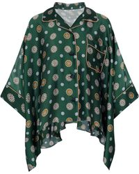 Sacai - Bedrucktes Hemd aus Satin - Lyst