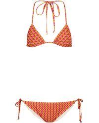 Valentino Exclusive To Mytheresa – Printed Triangle Bikini - Orange
