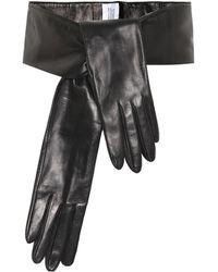 Vetements Leather Gloves Belt - Black