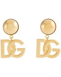 Dolce & Gabbana Pendientes de clip DG - Metálico